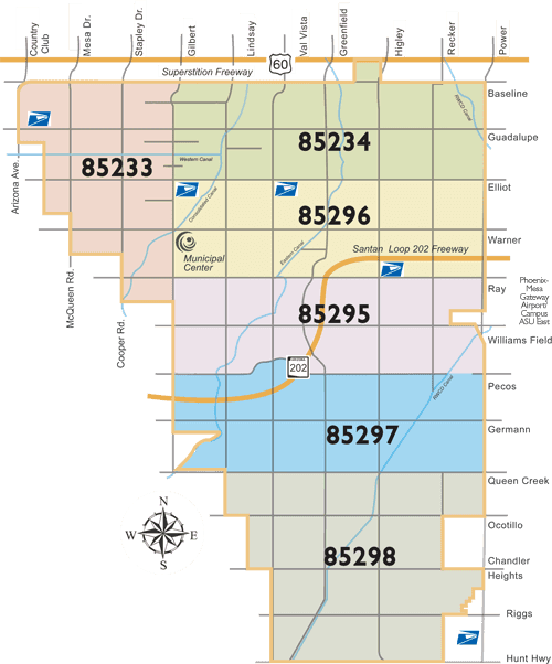 Gilbert Zip Code Map Gilbert Arizona Homes for Sale by Zip Code   Billy Nichols AZ Real
