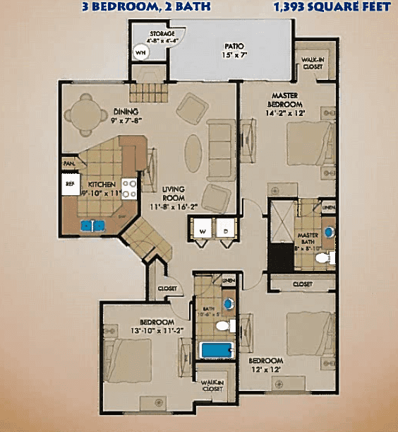 Portofino_Floor Plan_New 3 Bedroom