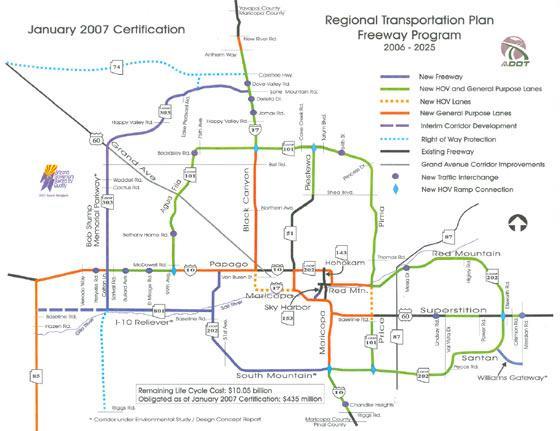 Arizona Freeway Map